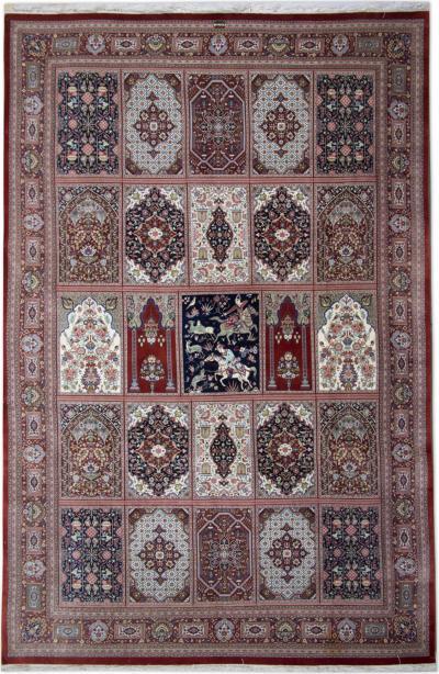 Vintage Persian Silk Qum Rug 198 x 307 cm