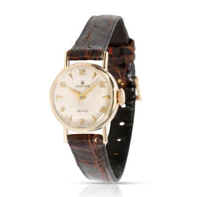 Vintage Rolex Precision Dress Women s Watch in 9kt Yellow Gold