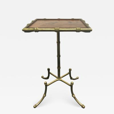Vintage Rosewood and Bronze Drink Table