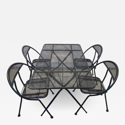 Vintage Salterini by Rid Jid Folding Patio Set