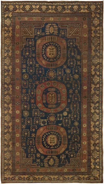 Vintage Samarkand Khotan Rug
