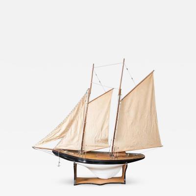 Vintage Schooner Model Sail Boat Patsy Ann
