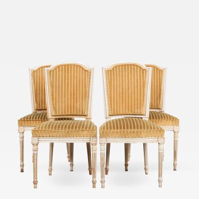Vintage Set of Four Louis XVI Style Dining Chairs