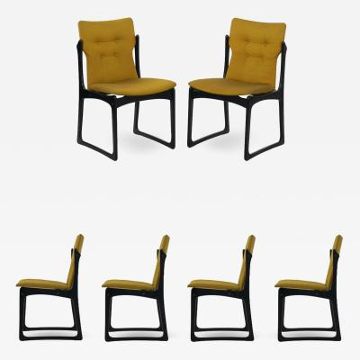 Vintage Set of Six Danish Mid Century Modern Dining Chairs by Stolefabrik