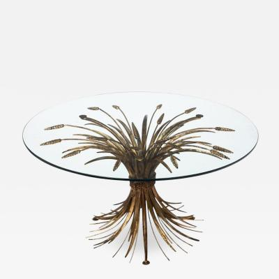 Vintage Sheaf of Wheat Coco Chanel Coffee Table