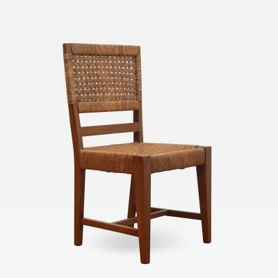 Vintage Side Chairs with Woven Seats and Backs