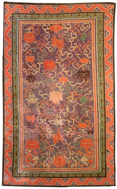 Vintage Silk Chinese Carpet