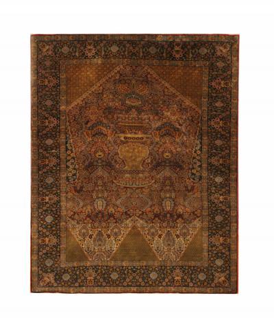 Vintage Silk Persian Qashqai Rug Oriental Wool Carpet Rug 134x173cm