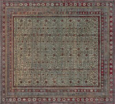 Vintage Silk Samarkand Rug