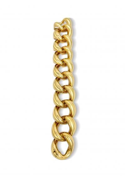 Vintage Solid 18K Gold Link Bracelet