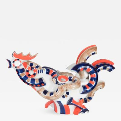 Vintage Spanish Pottery Rooster