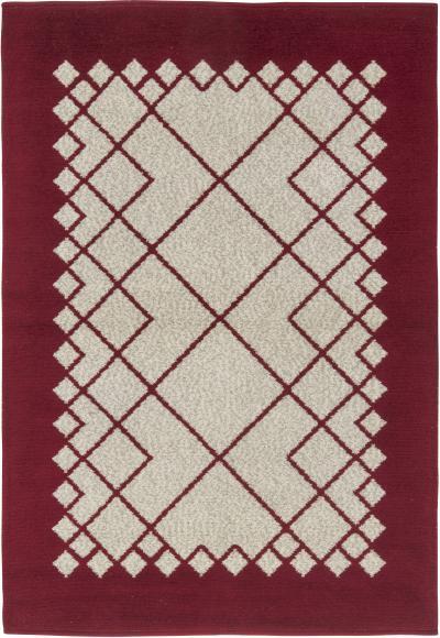 Vintage Swedish Flat Weave Double Sided Rug