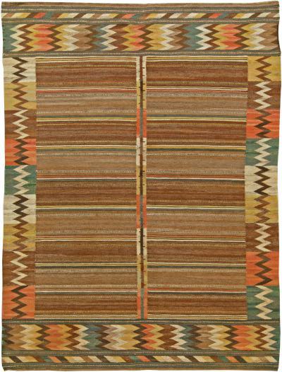Vintage Swedish Flat Weave Rug by M rta M s Fjetterstr m Viggb rd