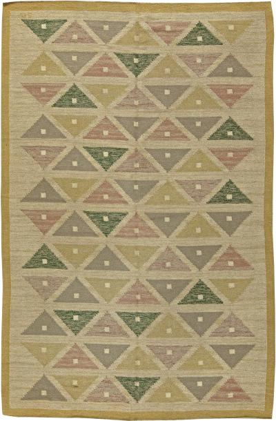Vintage Swedish Flat Weave Rug by Sigvard Bernadette