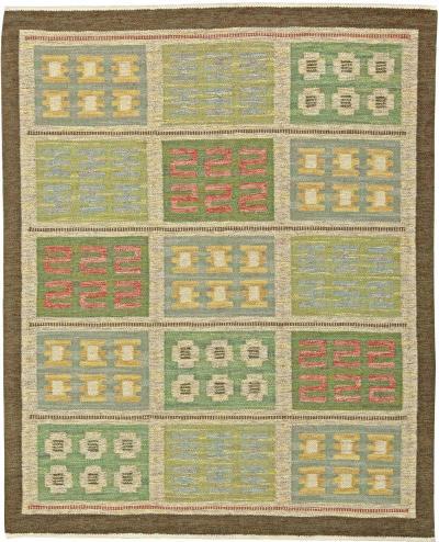 Vintage Swedish Flat Weave Rug by Svensk Hemslojd