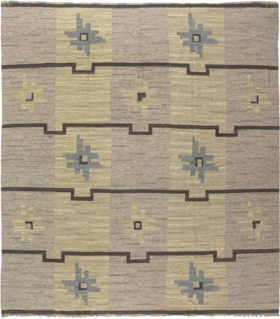 Vintage Swedish Flat weave Rug by Sodra Kalmar