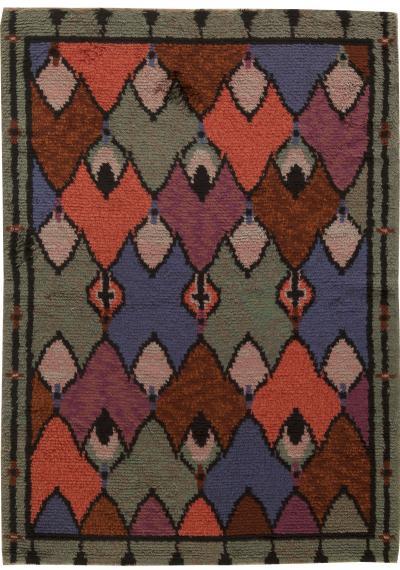 Vintage Swedish Pile Rug
