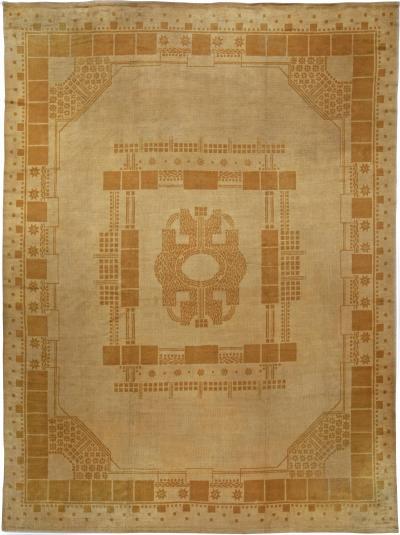 Vintage Viennese Secessionist rug