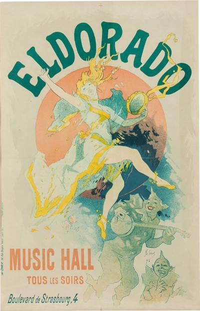 Vintage Wood Framed Poster Eldorado