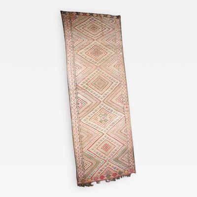 Vintage Zaiane Moroccan Tribal Runner Rug circa 1960