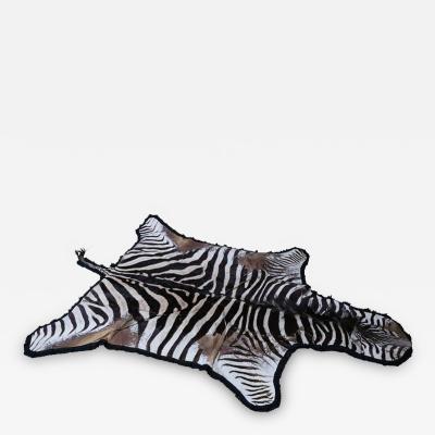 Vintage Zebra Hide Rug
