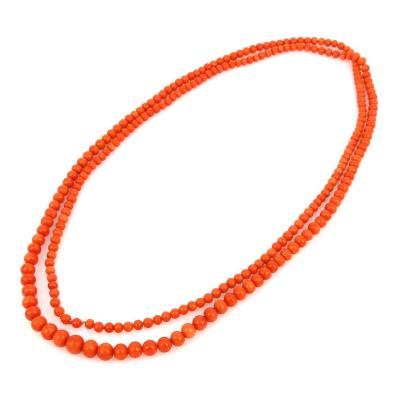 Vintage coral necklace 48 inches