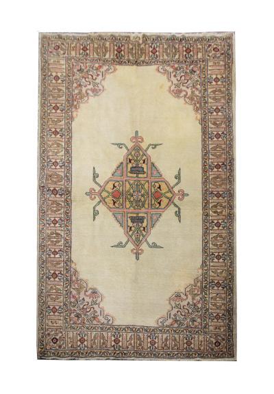Vintage handwoven Persian Tabriz Rug Handmade Wool Carpet
