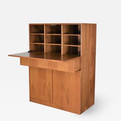 Vintage scandinavian modern teak drop front desk secretary in a box 1960 2000