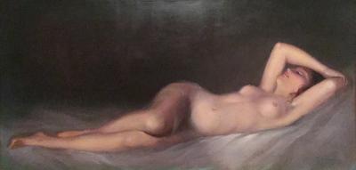 Violetta de Koszeghy Reclining Nude
