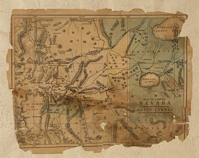 Virginia City Map Circa 1850