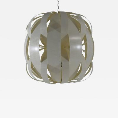 Visilek Furniture LLC Luna Light Fixture in English Sycamore and Onyx