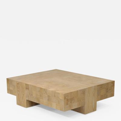 Visilek Furniture LLC Quadra Oak Coffee Table