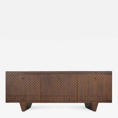 Visilek Furniture LLC Zellij Black Walnut 3D Textured Sideboard