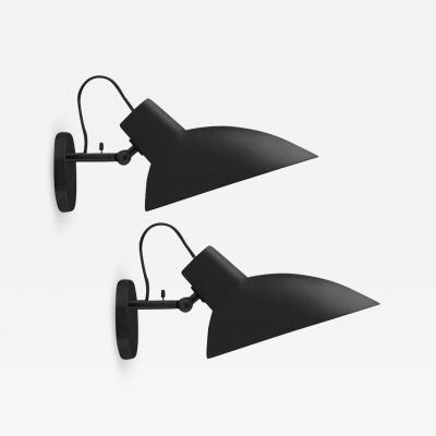 Vittoriano Vigano Pair of Vittoriano Vigan VV Cinquanta Sconces in Black
