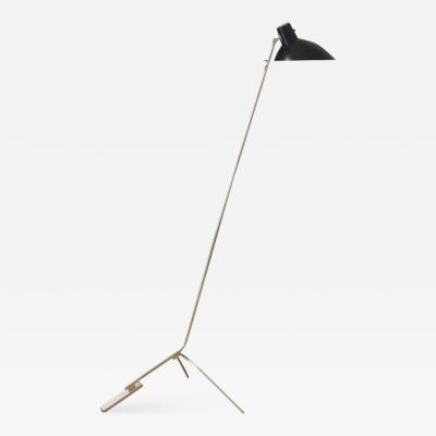 Vittoriano Vigano Vittoriano Vigan VV Cinquanta Floor Lamp in Black and Brass
