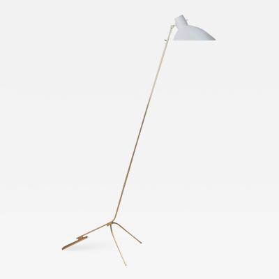 Vittoriano Vigano Vittoriano Vigan VV Cinquanta Floor Lamp in White and Brass
