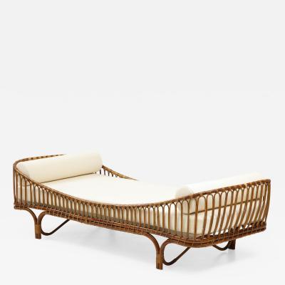 Vittorio Bonacina 1960s Italian bamboo rattan daybed designed by Mario Cristiani for Bonacina