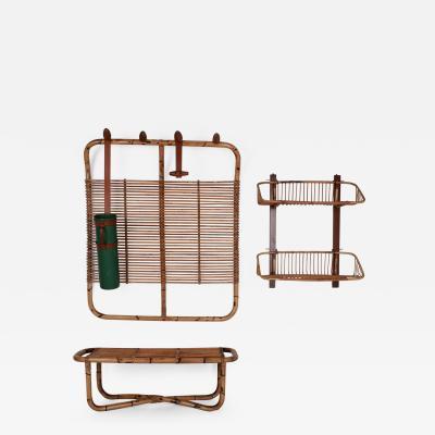 Vittorio Bonacina Bamboo Coat Rack Bench and Shelf by Vittorio Bonacina