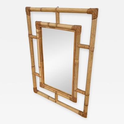 Vittorio Bonacina Mirror in Bamboo