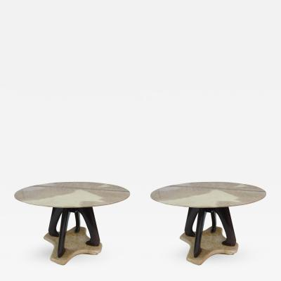 Vittorio Dassi A Pair of Tables by Vittorio Dassi Italy 1950