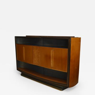 Vittorio Dassi Italian 1950s Walnut Maple Sideboard