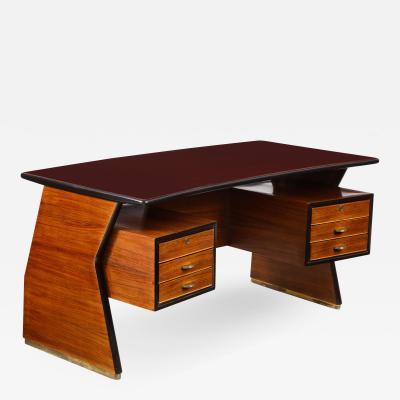 Vittorio Dassi Italian Mid Century Executive Desk by Dassi