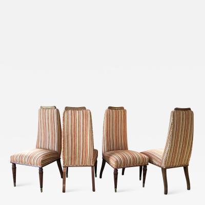 Vittorio Dassi Italy Vittorio Dassi 1950s Four Neoclassical Dining Chairs Elegant Ornamentation