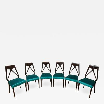 Vittorio Dassi Set of six dining chairs by Vittorio Dassi Italy circa 1950