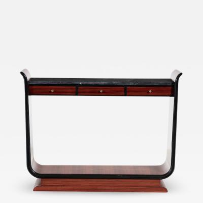 Vittorio Dassi Vittorio Dassi Italian 1940s console table in rosewood and boxwood