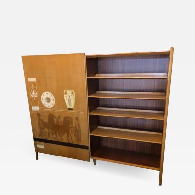 Vittorio Dassi Vittorio Dassi Mid Century Modern Bookcase and Wardrobe circa 1960