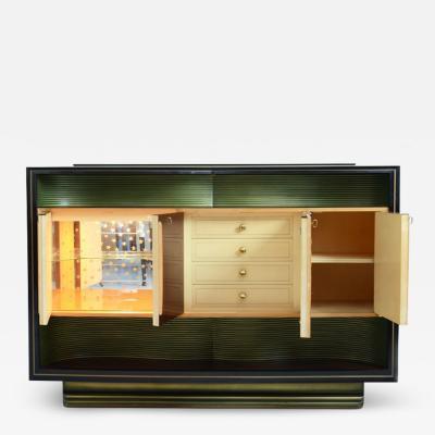 Vittorio Dassi Vittorio Dassi important 1940s bar cabinet in rosewood with maple wood details