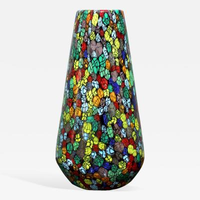 Vittorio Ferro Exceptional Hand Blown Glass Vase by Vittorio Ferro