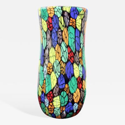Vittorio Ferro Vitorrio Ferro Unique Hand Blown Glass Vase 2000