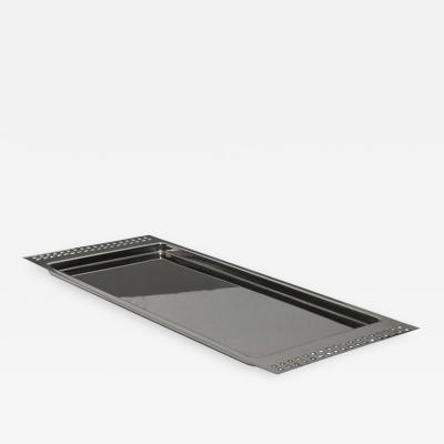 Vittorio Gregotti Steel Tray by Vittorio Gregotti for Cleto Munari
